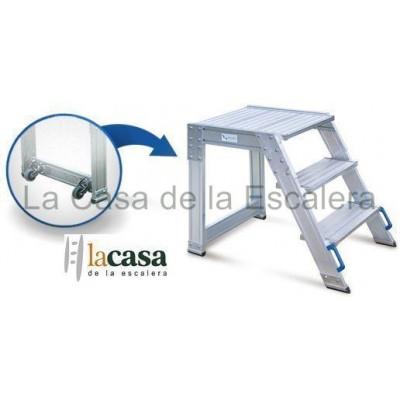 Escalera Gradilla de almacén industrial con plataforma superior de 60x60