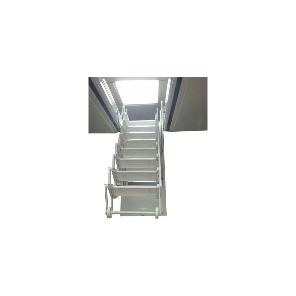 Escalera techo acorde n acero l cada blanca - Escaleras de techo ...