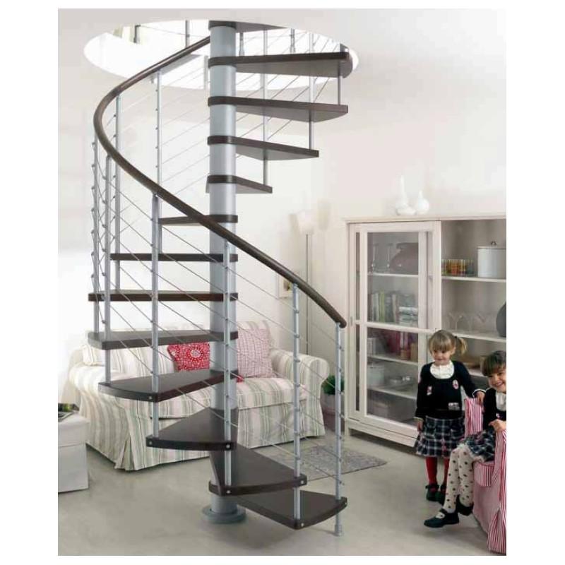 Escalera caracol modelo kloe para interior for Casas con escalera caracol