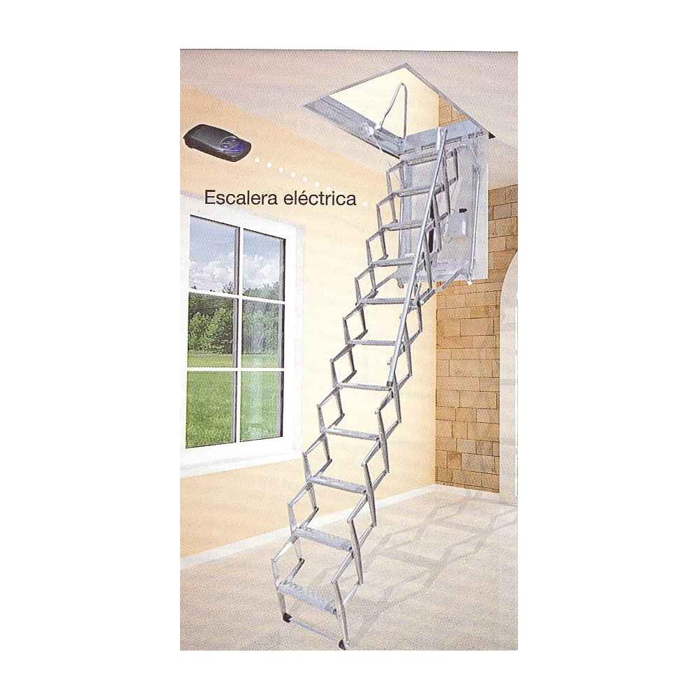 Escalera techo el ctrica acorde n acero galvanizado - Escalera de techo ...