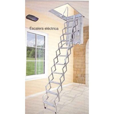 Escalera techo eléctrica acordeón acero galvanizado