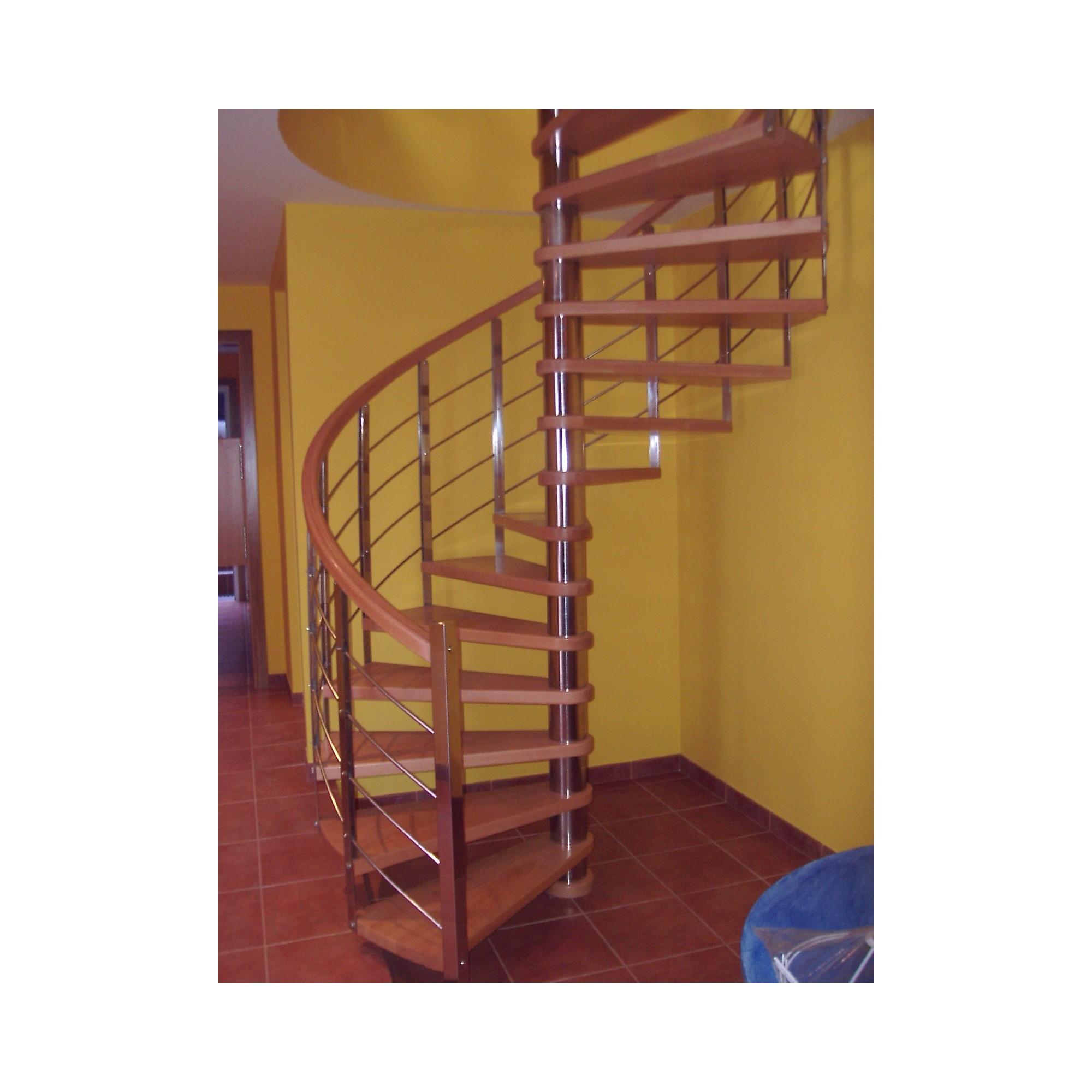 Escalera caracol a medida modelo arte for Plano escalera madera
