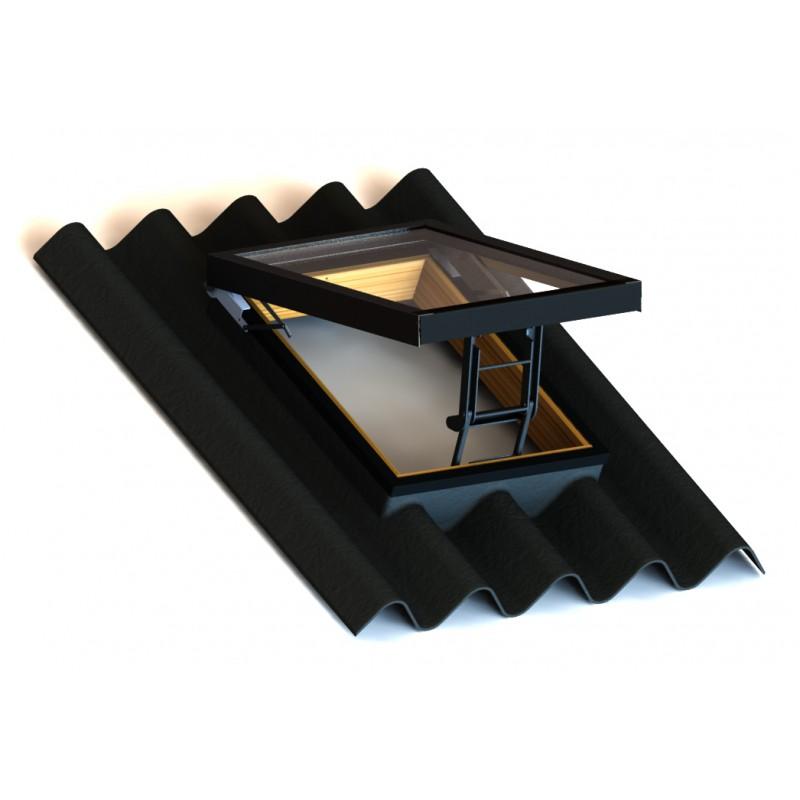 Luceras para tejado con tapajuntas fibrocemeto onda grande