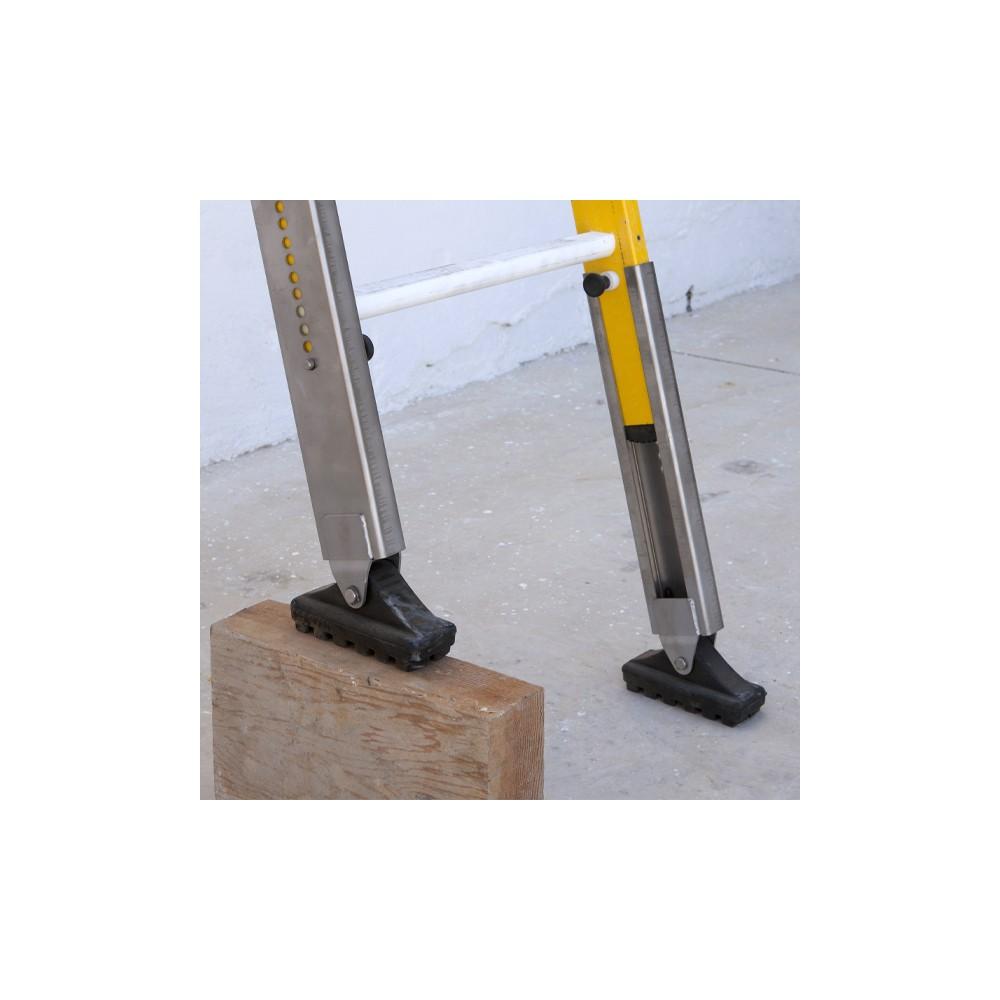 Patas regulables en altura escaleras fibra de vidrio pack for Escaleras fibra