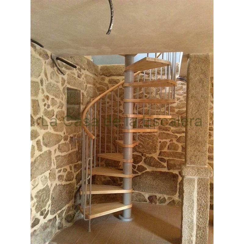 Escalera caracol modelo klan 140 diametro altura maxima hasta 3,06 mt