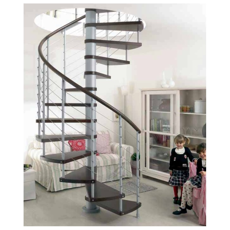 Escalera caracol modelo kloe 120 diámetro altura máxima hasta 3,06 mt