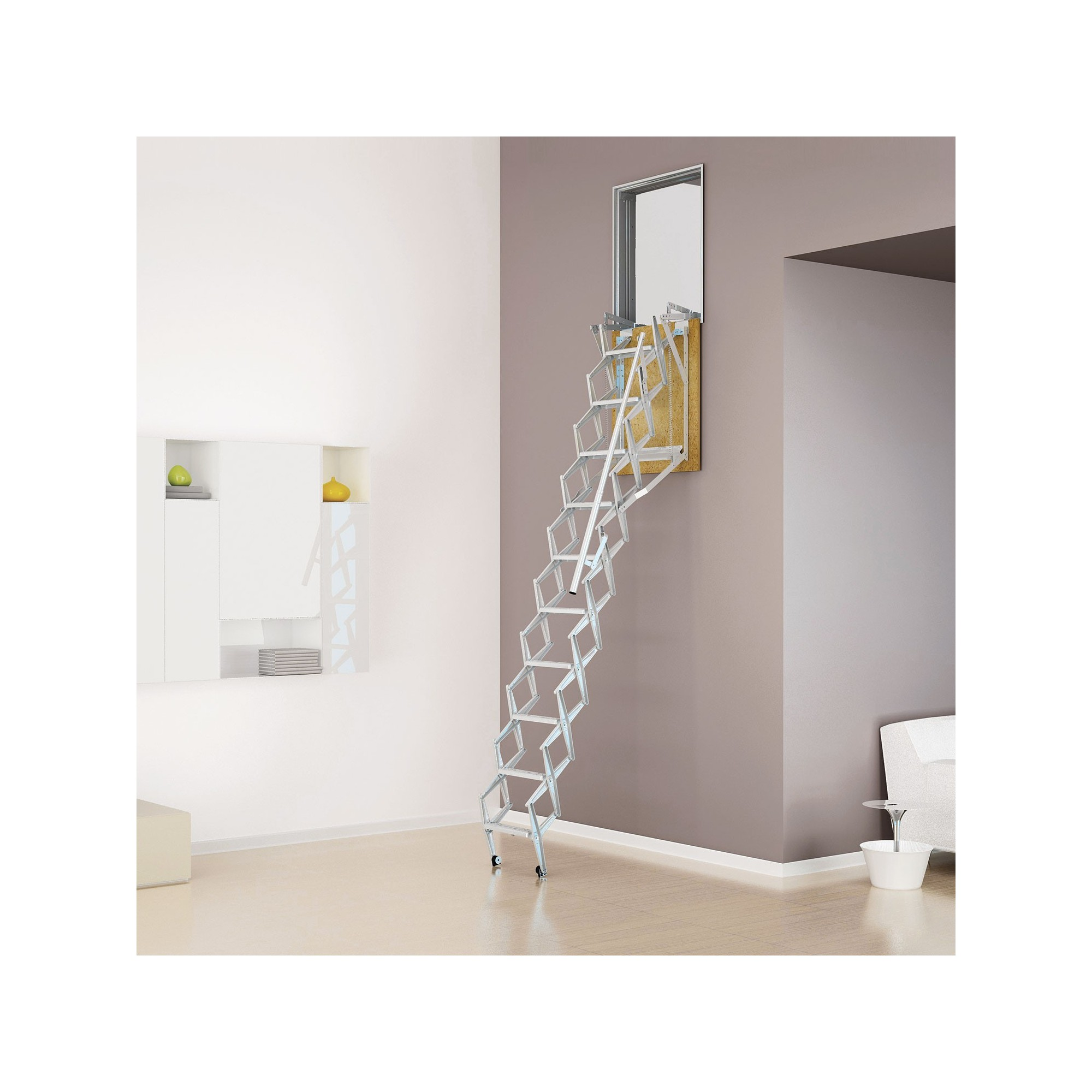 Escalera techo vertical para pared acorde n - Como insonorizar una pared ...