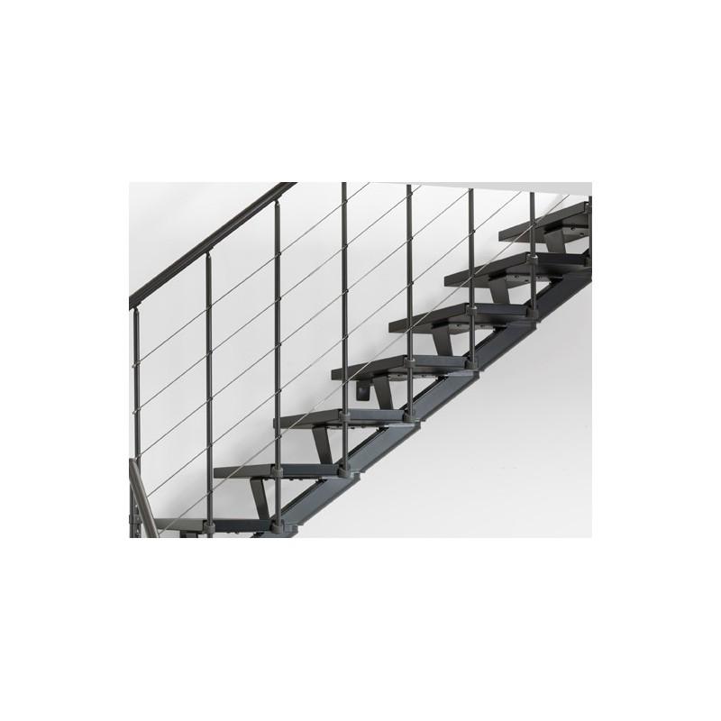 Barandilla adicional lateral precio por peldaño escalera modelo ANDE 010A