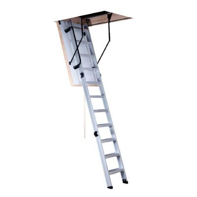 Escalera para techo tres tramos en aluminio