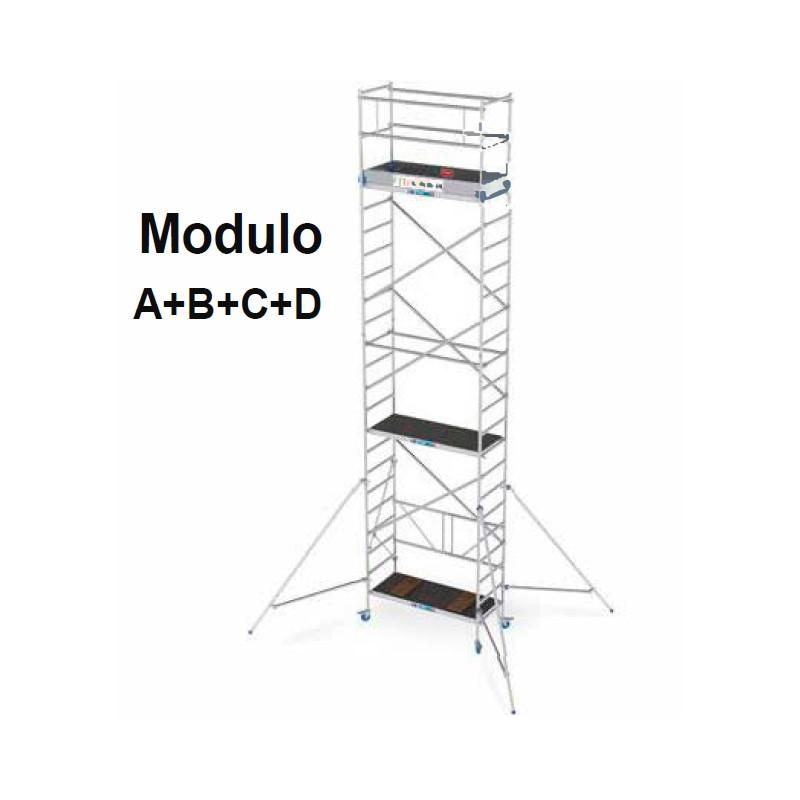 Andamio modular en aluminio A+B+C+ D