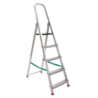 Escalera domestica aluminio peldaños de 8 cm una subida