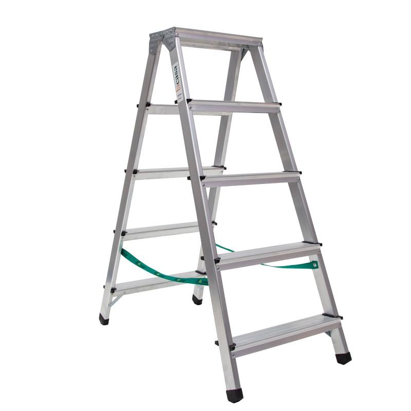 Escalera en aluminio domestica de doble subida