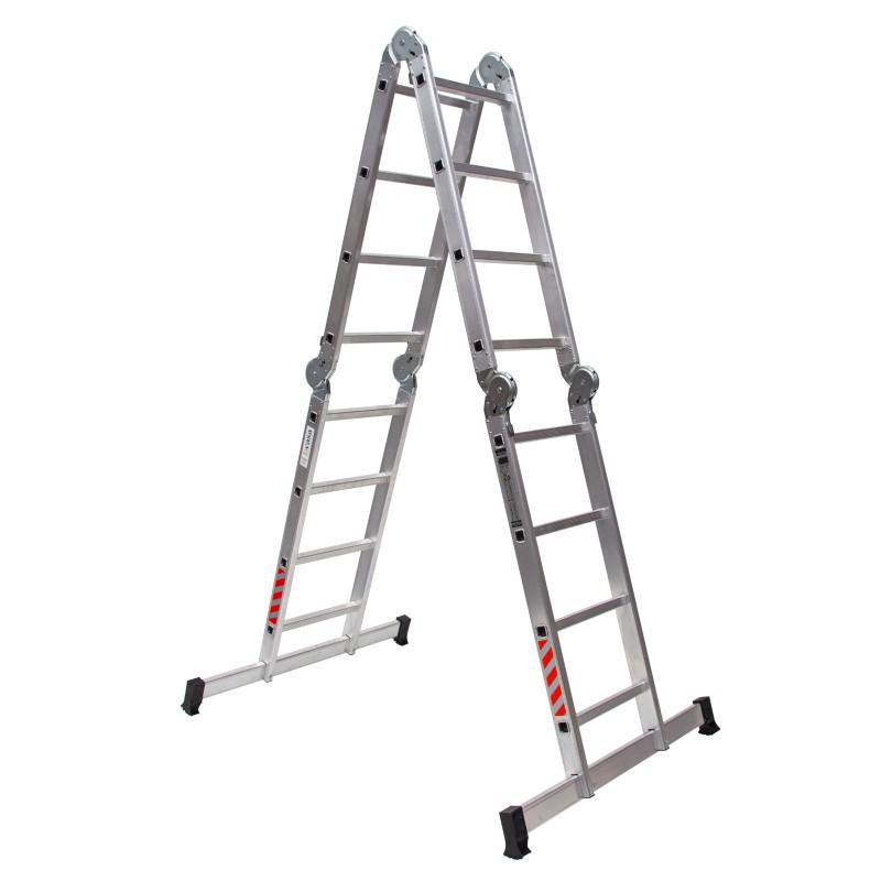 Escalera en aluminio multiuso articulada