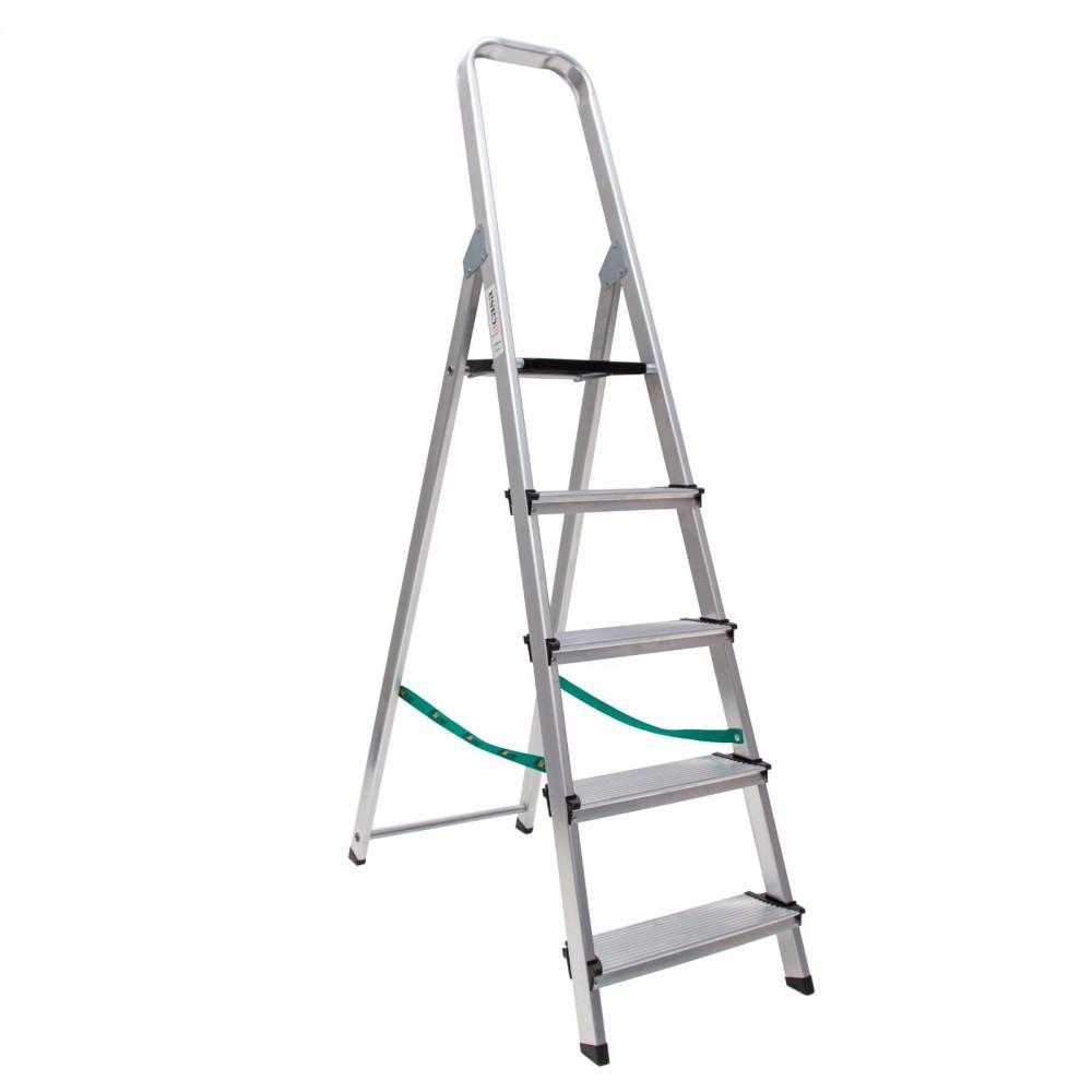 Escalera en aluminio domestica super hogar con peldaños 12 cm de una subida