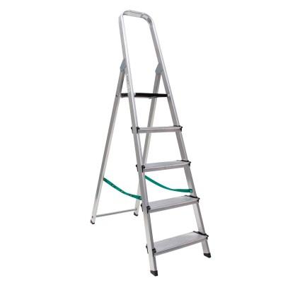 Escalera aluminio doméstica súper hogar peldaños 12 cm una subida