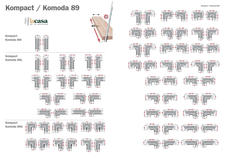 Ficha técnica de la Escalera Interior modelo Kompact en Kit